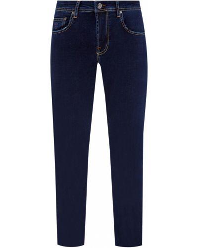 Синие прямые джинсы стрейч Cudgi