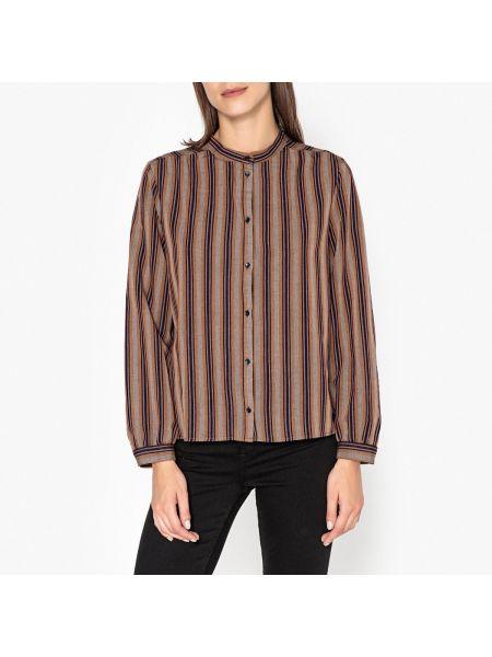 Бежевая рубашка с воротником на пуговицах из вискозы Harris Wilson