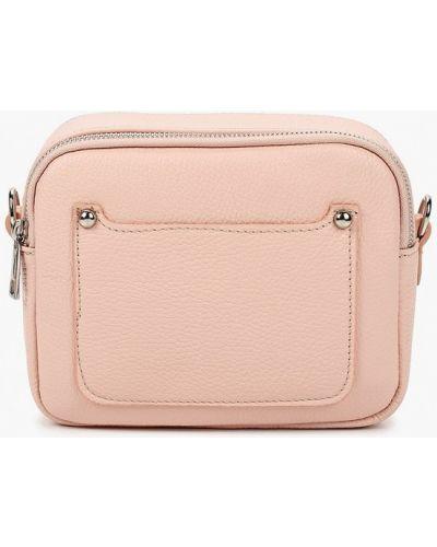 Розовая сумка через плечо из натуральной кожи Lamania