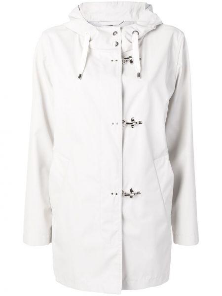 Белая длинное пальто Fay