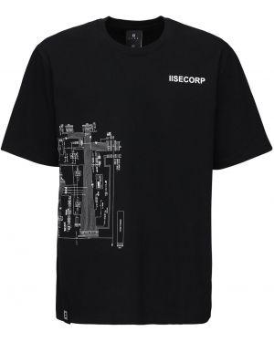 Czarny t-shirt bawełniany Iise
