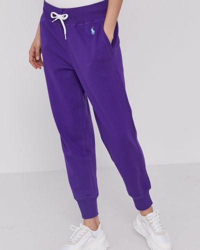 Fioletowe spodnie bawełniane Polo Ralph Lauren