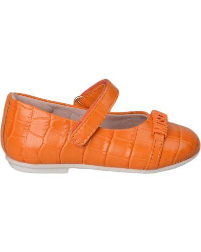 Оранжевые туфли Moschino