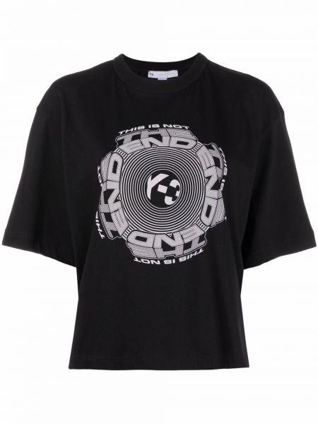Черная футболка с круглым вырезом Y-3