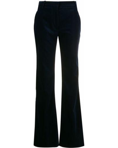 Синие с завышенной талией брюки с карманами Victoria Beckham