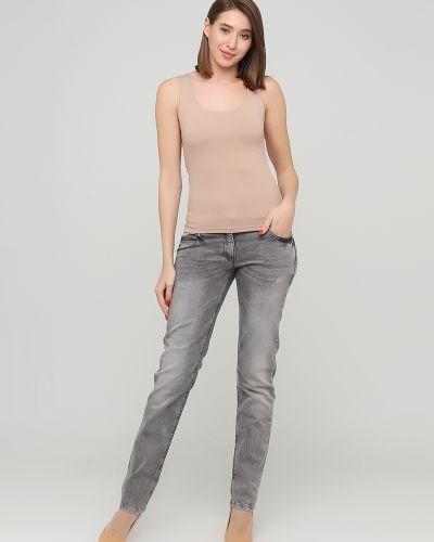 Серые джинсы с карманами Kookai