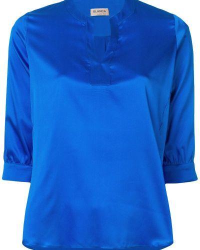 Блузка с V-образным вырезом шелковая Blanca