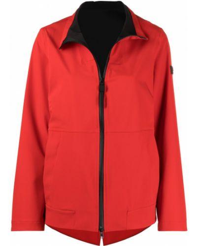 Приталенная красная куртка на молнии Peuterey