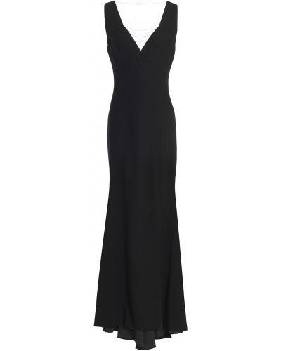 Czarna satynowa sukienka Elie Tahari