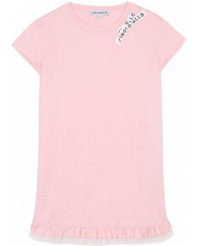Платье мини розовое повседневное Simonetta