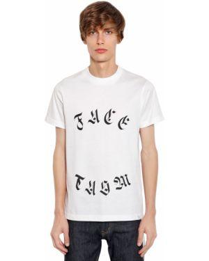Biały t-shirt bawełniany Facetasm