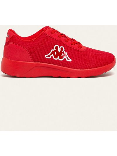 Текстильные красные кроссовки круглые Kappa
