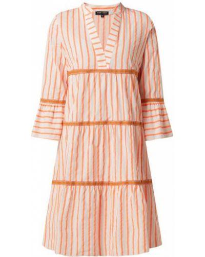 Sukienka rozkloszowana z falbanami w paski Risy & Jerfs