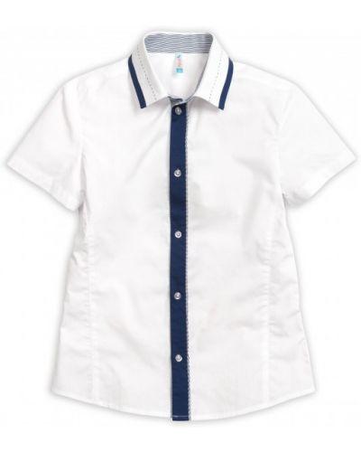 Хлопковая повседневная рубашка на пуговицах с короткими рукавами Pelican