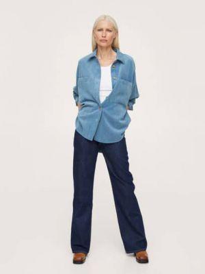 Koszula oversize - niebieska Mango