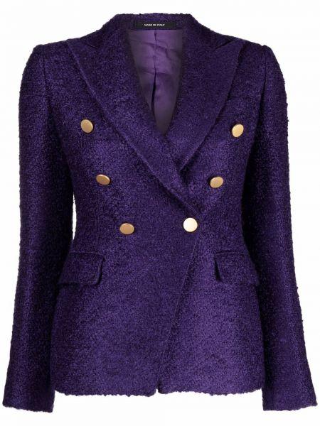 Фиолетовый пиджак двубортный Tagliatore