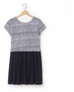 Платье с рукавами хлопковое короткое La Redoute Collections