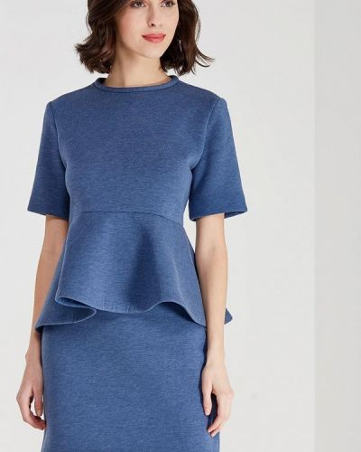 Костюмный синий юбочный костюм Èssmy