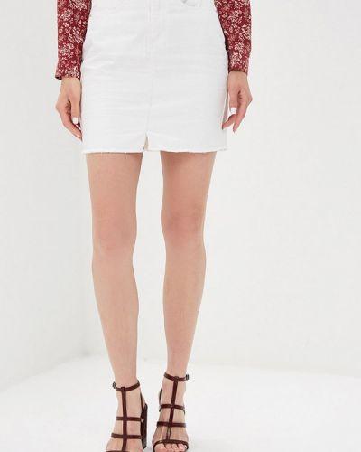 Джинсовая юбка белая Brave Soul