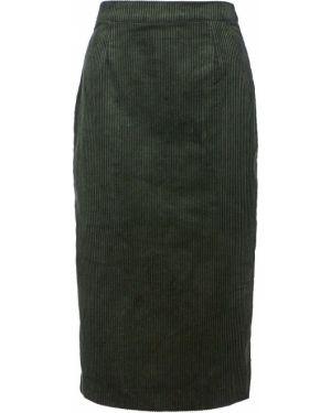 Юбка вельветовая с разрезом сзади Ichi