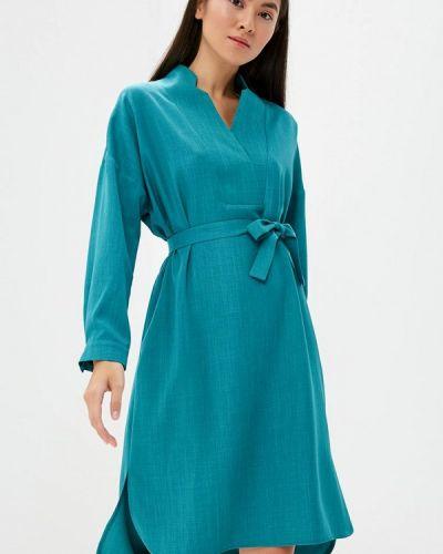 Платье бирюзовый осеннее Maison De La Robe