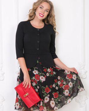 Платье с баской с цветочным принтом Diolche