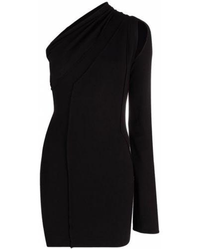 Czarna sukienka w paski Rick Owens