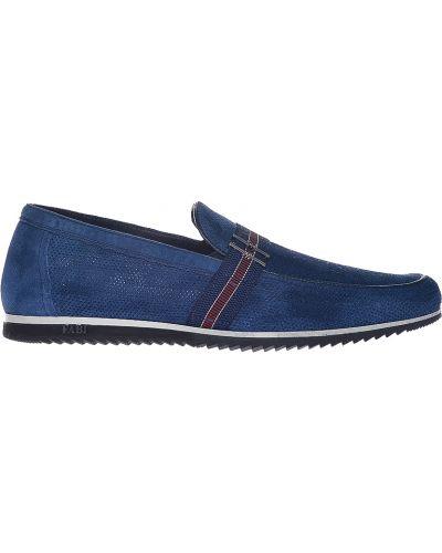 Синие замшевые туфли Fabi