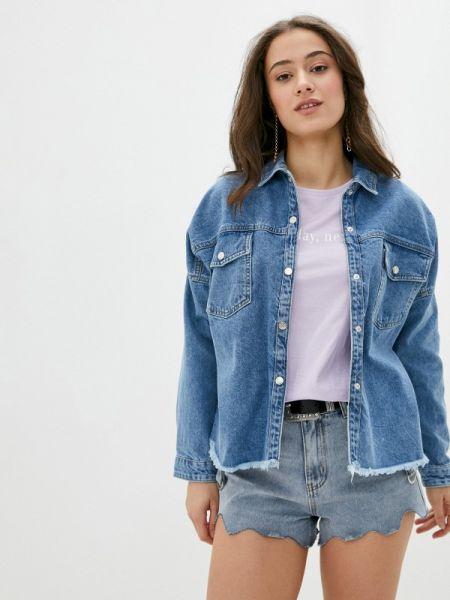 Джинсовая рубашка синяя Defacto