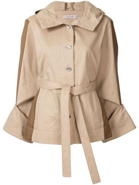 Коричневый пиджак с капюшоном на пуговицах Palmer / Harding