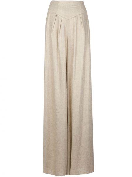 Нейлоновые брюки с карманами на молнии Christian Siriano