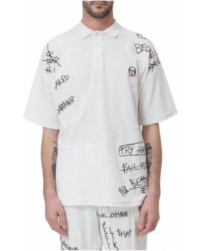 Biała koszula z printem Sergio Tacchini