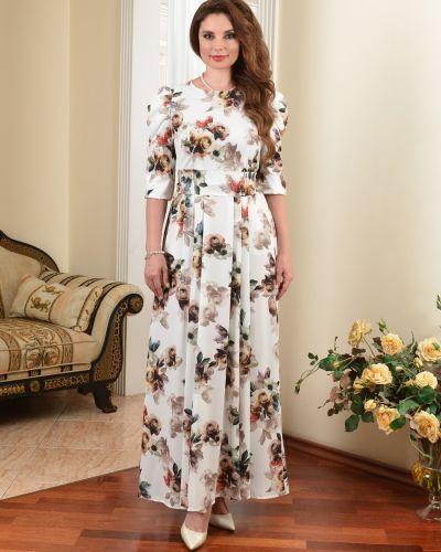 Вечернее платье с принтом Salvi-s