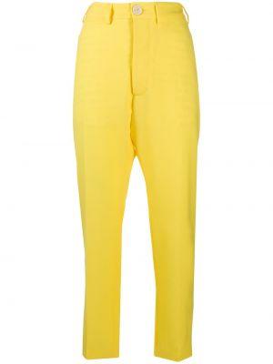 Z wysokim stanem spodni przycięte spodnie z paskiem Vivienne Westwood