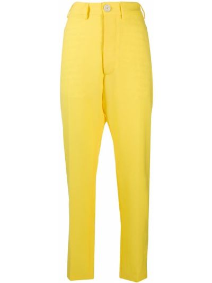Желтые шерстяные зауженные брюки Vivienne Westwood