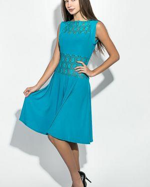 Платье с поясом на торжество гипюровое Time Of Style
