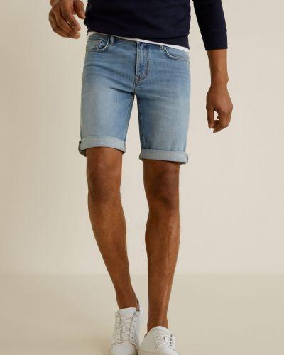 Джинсовые шорты с карманами на пуговицах Mango Man