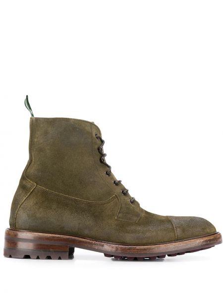 Кожаные ботинки на шнуровке Green George