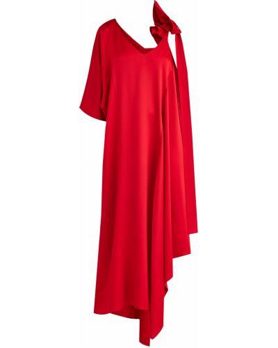 Платье макси с бантом с оборками Valentino