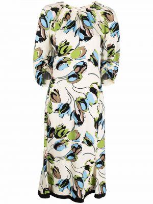 Платье миди в цветочный принт Marni