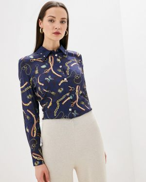 Блузка с длинным рукавом синяя Helmidge