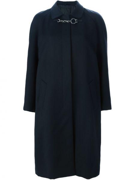 Długi płaszcz klasyczny wełniany Prada Pre-owned