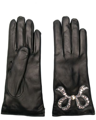 Кожаные перчатки черные итальянский Gucci