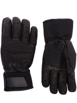Кожаные перчатки - черные Kjus
