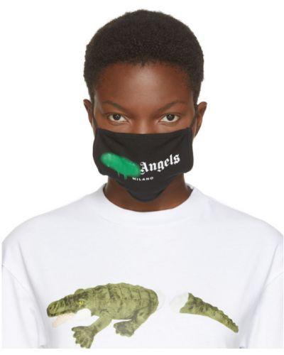 Ватная трикотажная черная маска для лица Palm Angels