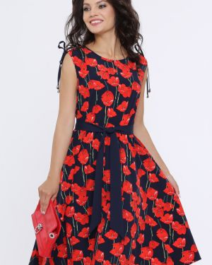 Платье с поясом теплое платье-сарафан Dstrend