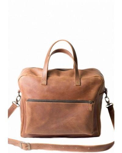 Коричневая кожаная сумка Incarne