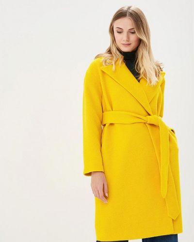 Желтое пальто с капюшоном Pepen