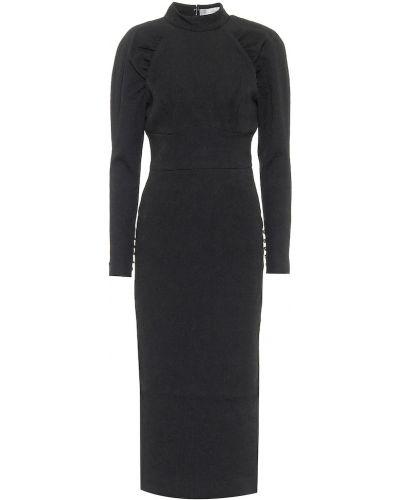 Хлопковое платье миди - черное Rebecca Vallance