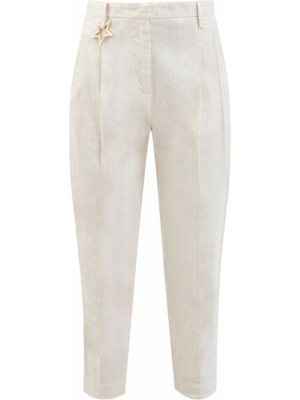 Укороченные брюки - бежевые Lorena Antoniazzi